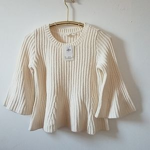 NWT GAP knitted top. Ivory, S P, New